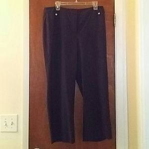 Black Style & Co Double Striped Stretch Pants